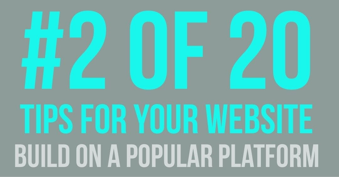 Tips For Your Website – Build Your Site On A Popular Platform