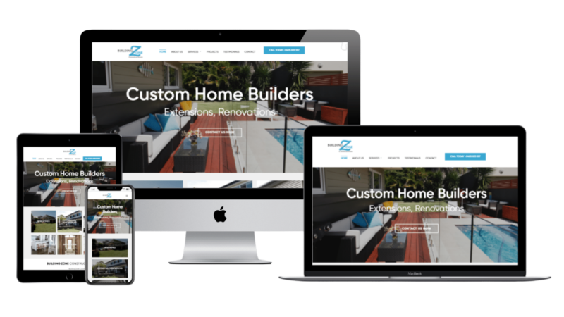 web design mock up view
